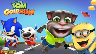 Talking Tom Gold Run VS Sonic Dash 2: Sonic Boom - Despicable Me 2 Minion Rush Summer Beach Run