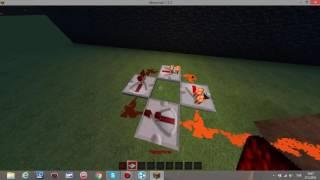 Minecraft : Otomatik Redstone Sistemi Yapımı #1 Redstone Yeniliyiciler ve Redstone Meşalesi ile