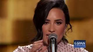 Demi Lovato FULL REMARKS & Performance at Democratic National Convention (C-SPAN)