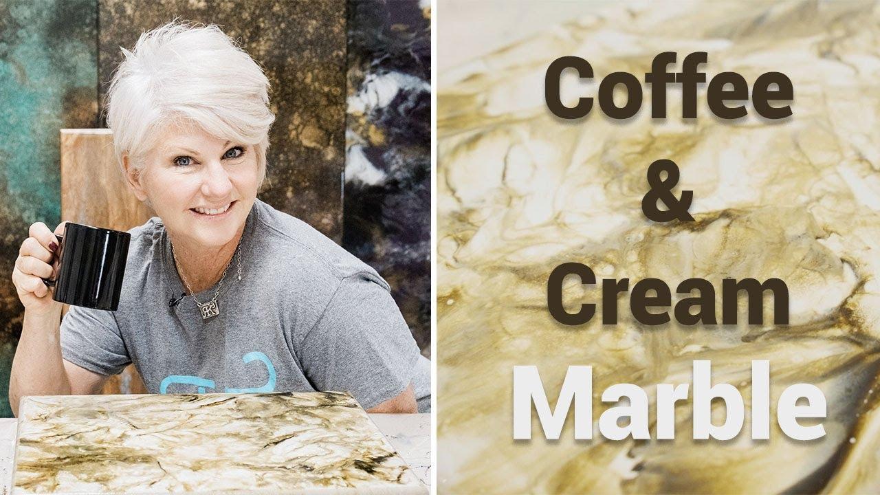 Stone Coat Epoxy: Coffee and Cream Marble Finish