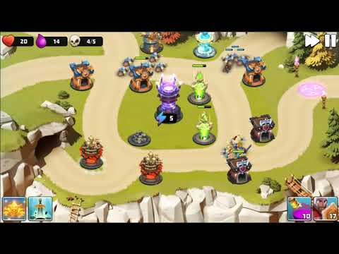 Castle Creeps TD - Chapter 4 Level 16 Cavern Clash 3 Stars (Without Sentinel)