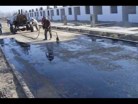 Proyecto palmeras riego de liga asfaltica youtube for Aspersores para riego de jardin