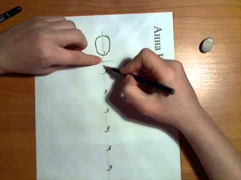 Рисование человека спереди. Видеоурок Анны Кошкиной.