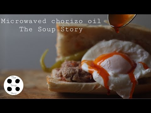 how-to-make-chorizo-oil-(microwaved)-|-the-soup-story