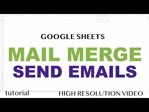 Google Sheets Mail Merge - Email - No Addons - Tutorial