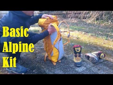 Basic Alpine Kit  for Mountaineering !