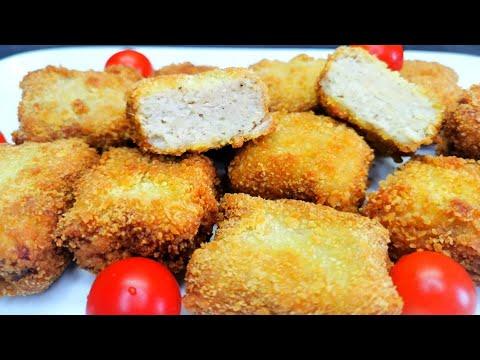 nuggets-de-poulet-fait-maison- beignets-de-poulet -croquettes-de-poulet-😋