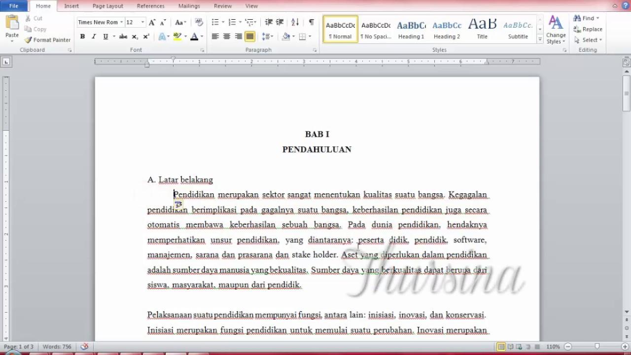 Cara Merapikan Kalimat Di Makalah Di Microsoft Word 2010 Tutorial 2017 Youtube