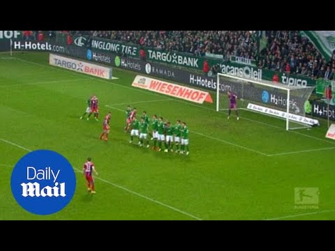 David Alaba scores with inch perfect free-kick for Bayern Munich - Daily Mail