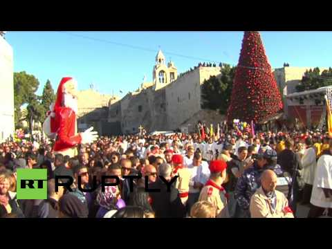 State of Palestine: Christmas peace comes to barbed-wire Bethlehem