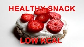 FAST Healthy FOOD | Strawberry Rice Cake with Honey | #GamerSnack | Low Kcal