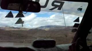 ボリビア、ポトシ~ウユニの山道ドライブ①(08.12.30)
