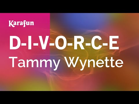 Karaoke D-I-V-O-R-C-E - Tammy Wynette *