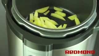 Картофель с сыром и фасолью в мультиварке-скороварке REDMOND RMC-M4504