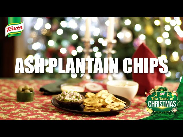 Taste of Christmas - Ash Plantain Chips with Spicy Onion Salsa