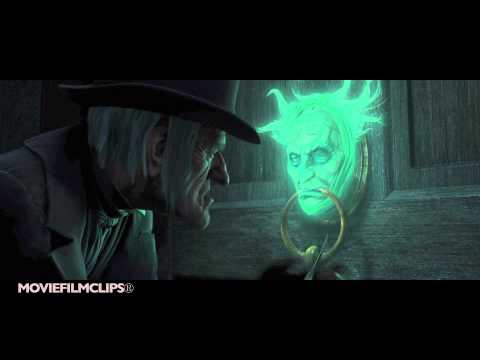 Jacob Marley In The Door Knob  A Christmas Carol 2009  HD