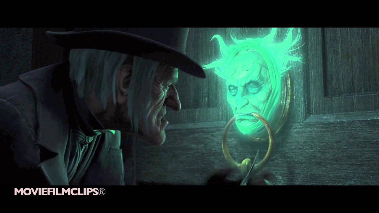jacob marley in the door knob a christmas carol 2009 hd - A Christmas Carol 2009 Cast