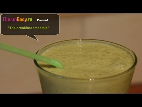 Vegetarian/Vegan Recipe – Kiwi and banana smoothie, easy and perfect for breakfast