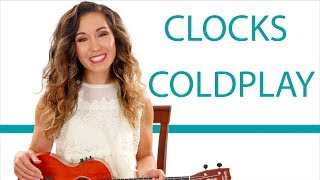 """""""Clocks"""" by Coldplay - Ukulele Tutorial/Lesson with Play Along"""