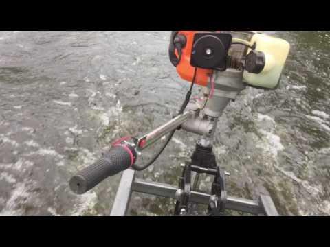 Как изготовить своими руками лодочный мотор из триммера или шуруповерта