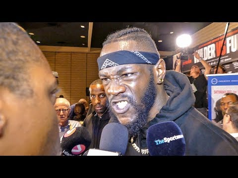 Deontay Wilder BLASTS Radio Rahim In His FACE!