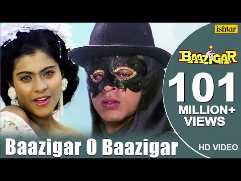 Baazigar O Baazigar-HD VIDEO SONG | Shahrukh Khan & Kajol | Baazigar | 90's Superhit Hindi Love Song