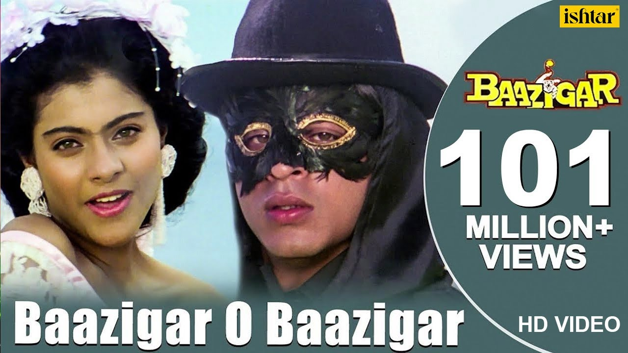 Baazigar O Baazigar-HD VIDEO SONG | Shahrukh Khan & Kajol | Baazigar | 90's Superhit Hindi Love Song #1