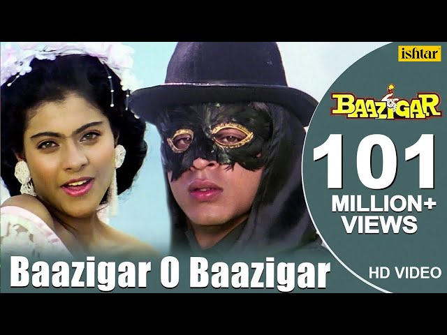 Baazigar O Baazigar-HD VIDEO SONG   Shahrukh Khan & Kajol   Baazigar   90's Superhit Hindi Love Song