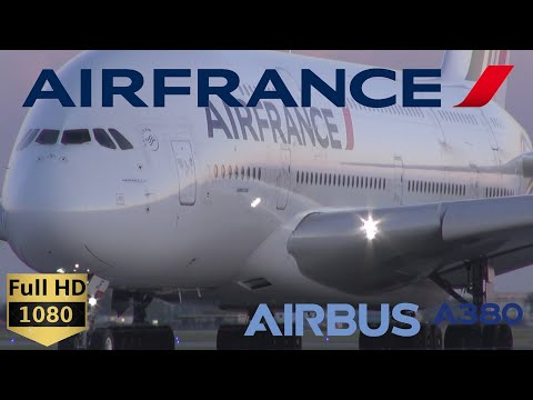 Air France Airbus A380 - Very Close Taxi & Takeoff Montreal (YUL)