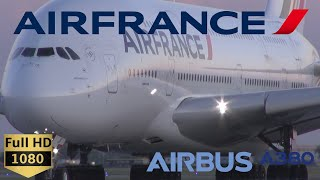 Air France Airbus A380 very close taxi and takeoff - Montreal (YUL)