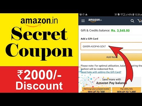 Amazon Coupon Codes: How To Get Amazon Coupon Codes | Amazon Coupon Codes 2019