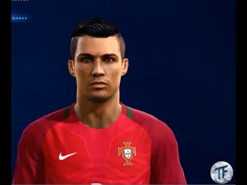 New Face Hair Cristiano Ronaldo PES PC - Download hair cristiano ronaldo pes 2013