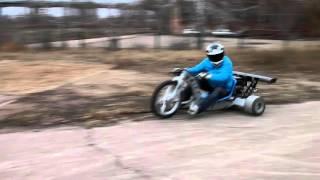 Drift Trike (дрифт трайк) осенние заеды по асфальту.