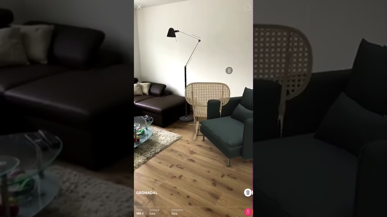 Furniture shopping done right! (App Name: Raumbild) - YouTube