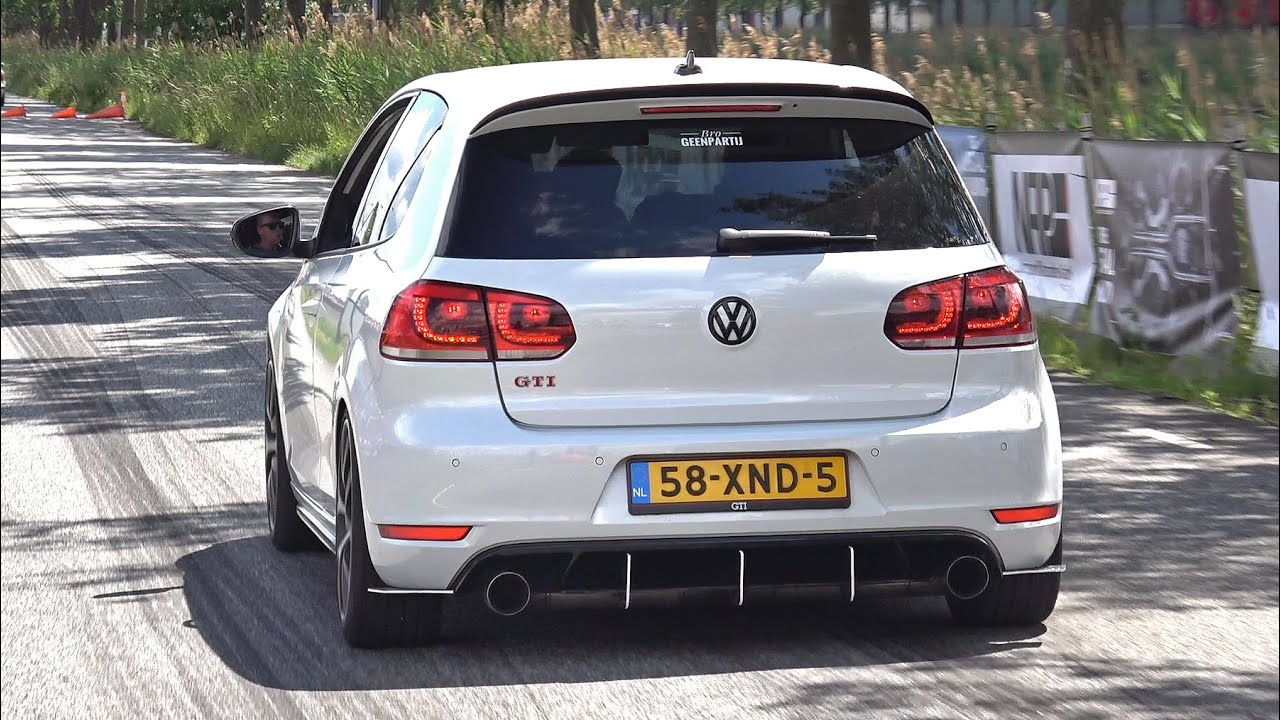 Volkswagen Golf 6 GTI with Straight Pipes Exhaust! Revs, Pops & Bangs, Accelerations!