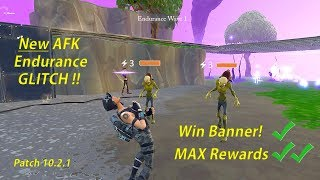 NEW AFK ENDURANCE GLITCH Fortnite Save the World