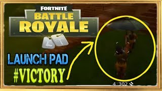 FORTNITE BATTLE ROYALE PL - PERFECT WIN USING NEW LAUNCH PAD!!