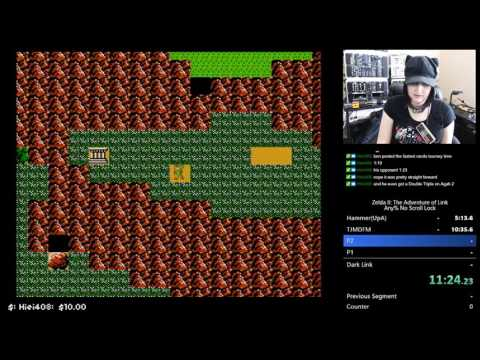 Zelda II Any% NSL Speedrun 1:23:02