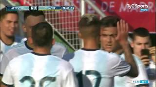 Gol: Argentina 6-1 Ecuador (Lucas Ocampos)