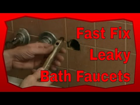 How To Fix Leaky Bathtub Faucets - YouTube