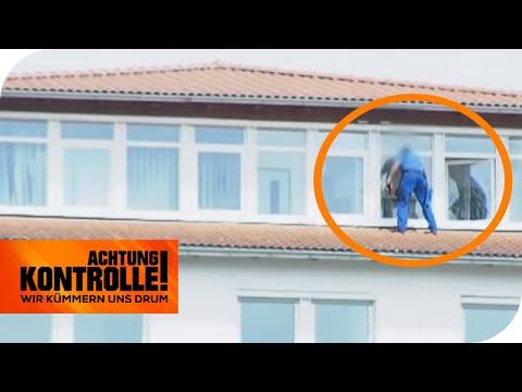 Wahnsinn! Fensterputzer ignoriert den Arbeitsschutz komplett!   Achtung Kontrolle   kabel eins
