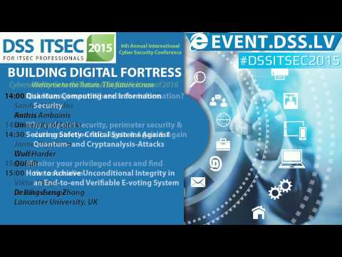 DSS ITSEC 2015 : Cybersecurity General Trends & Digital Fort