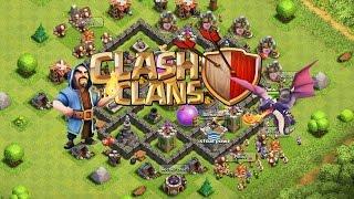 -- Clash of clans-- Meilleur village HDV 6 défense 100% réussis !!