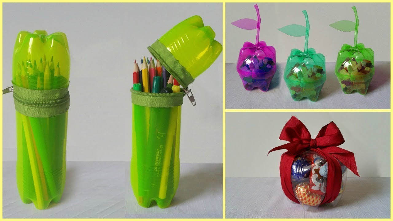 How to make useful items from waste bottles youtube for Useful things from waste bottles