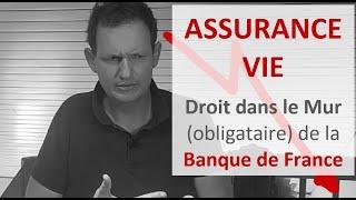 L'ASSURANCE VIE droit dans le mur (obligataire) : Alerte Banque de France