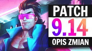 OMÓWIENIE ZMIAN W PATCHU 9.14 LEAGUE OF LEGENDS