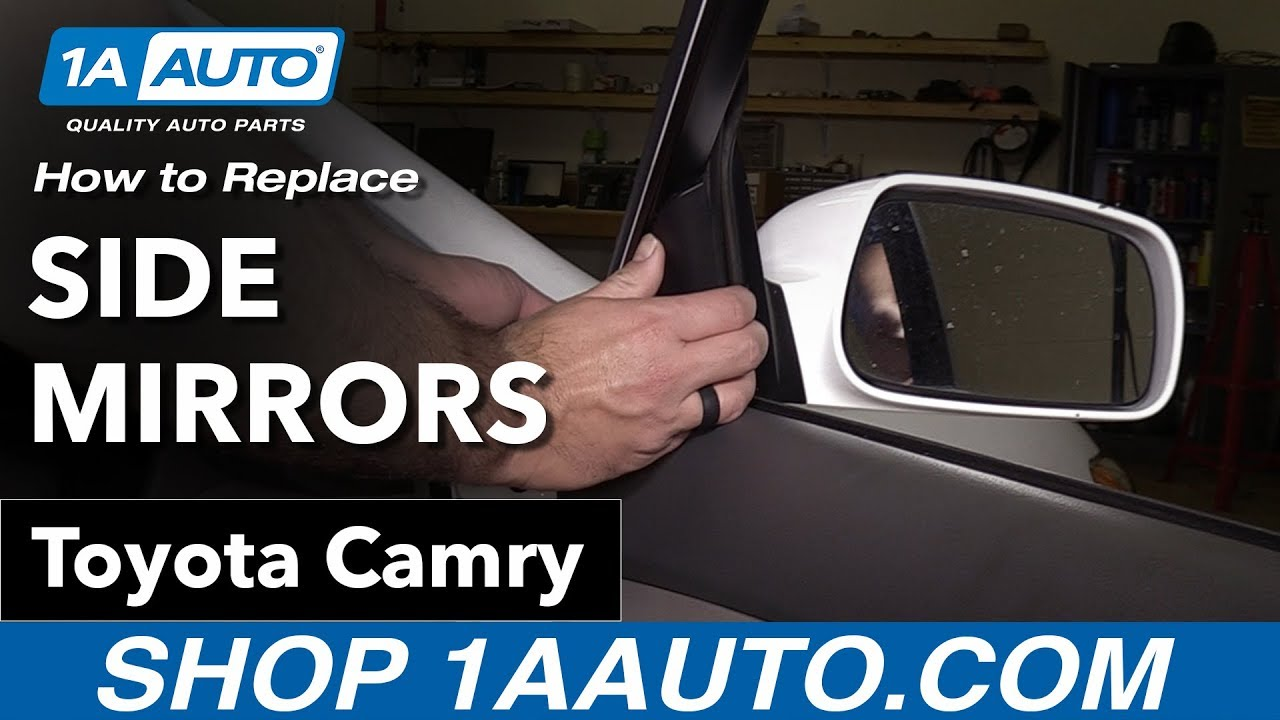 How To Replace Side Mirrors 06 11 Toyota Camry Youtube