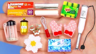 14 DIY MINIATURE KITCHEN REALISTIC HACKS AND CRAFTS FOR DOLLHOUSE BARBIE