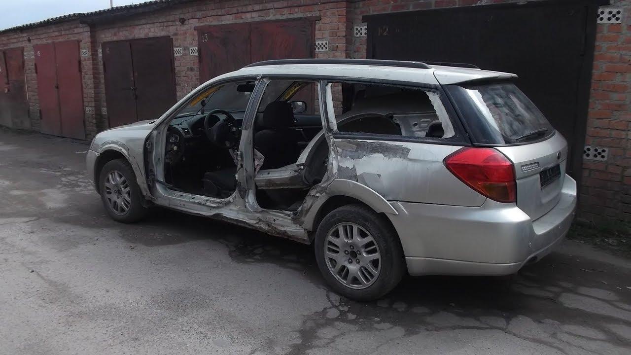 ТАНК - Subaru Forester . Кузовной ремонт .Рихтовка . Часть 1.