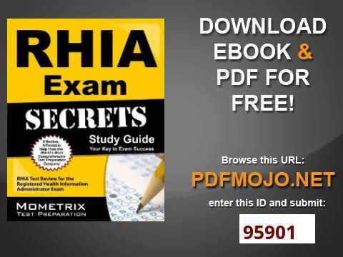 rhia exam secrets study guide rhia test review for the registered rh youtube com Health Information Technology Registering Patients